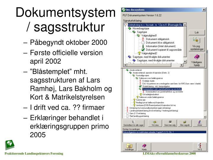 Dokumentsystem / sagsstruktur