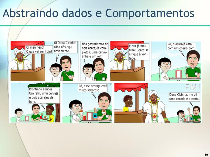 Abstraindo dados e Comportamentos