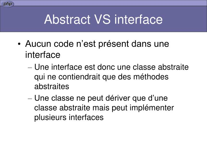 Abstract VS interface