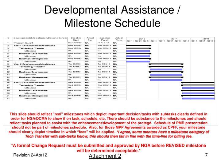 Developmental Assistance /