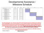 developmental assistance milestone schedule