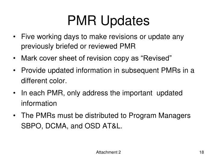 PMR Updates