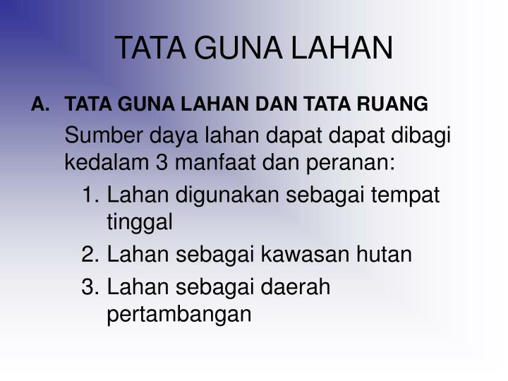 TATA GUNA LAHAN