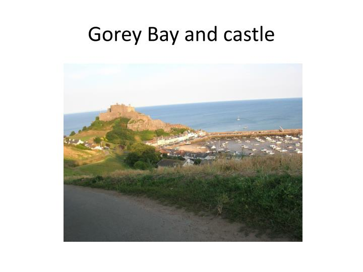 Gorey Bay and castle