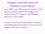 islington extensive abuse of children in care homes