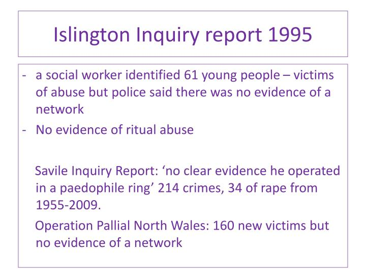 Islington Inquiry report 1995