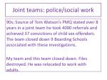 joint teams police social work