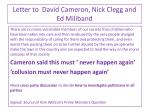 letter to david cameron nick clegg and ed miliband