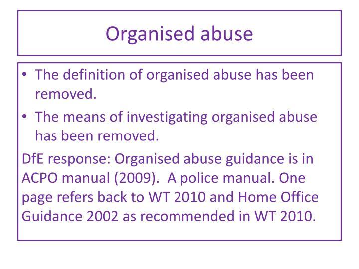 Organised abuse