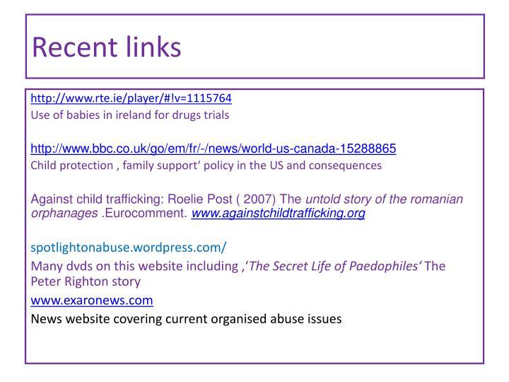 Recent links
