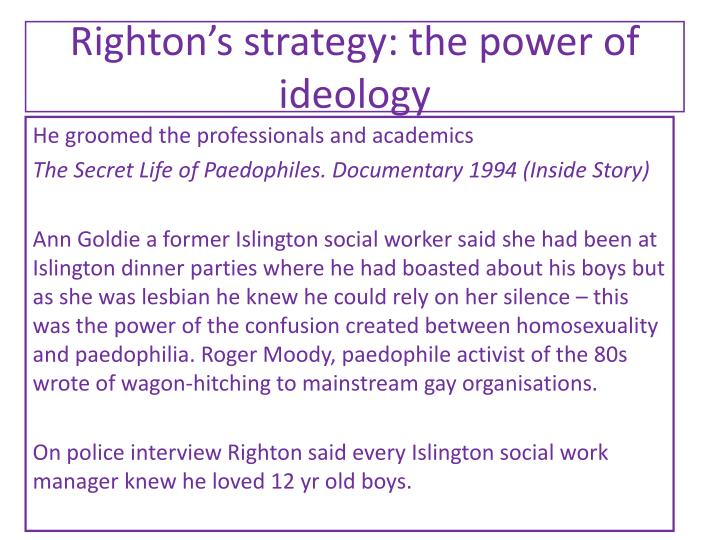 Righton's strategy: the power of ideology