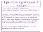 righton s strategy the power of ideology