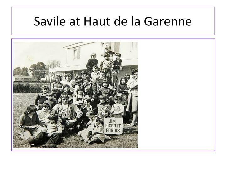 Savile at Haut de la Garenne