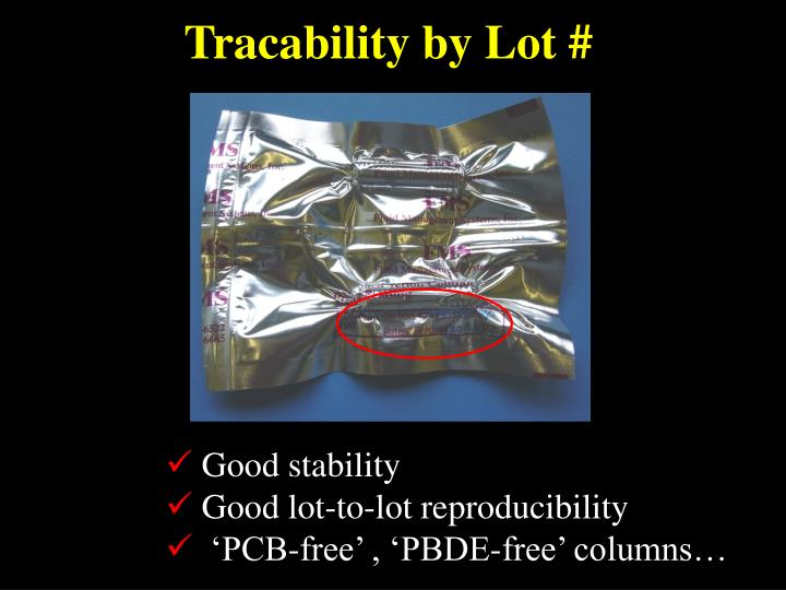 Tracability by Lot #