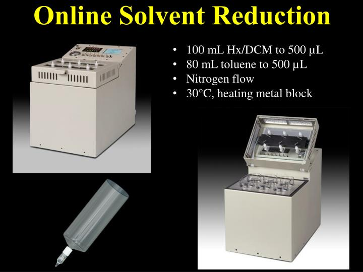 Online Solvent Reduction