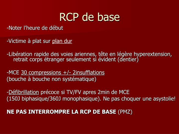 RCP de base