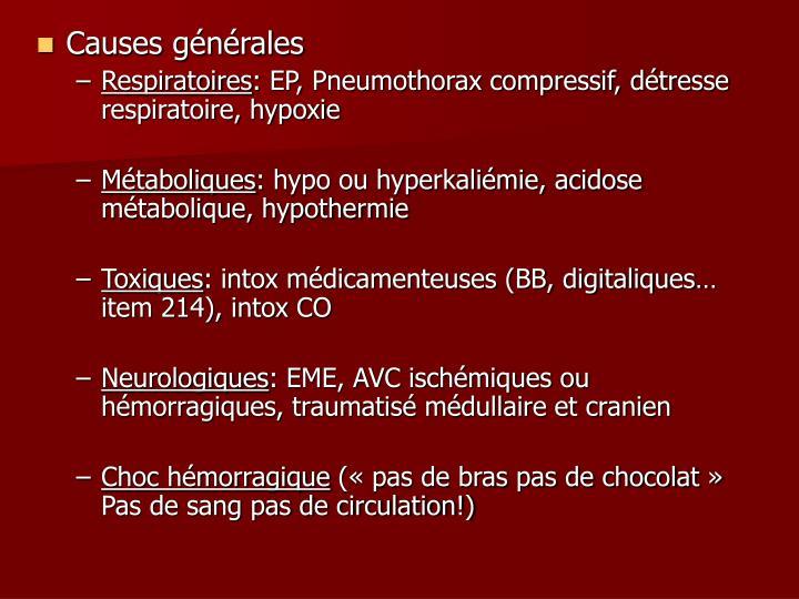 Causes générales