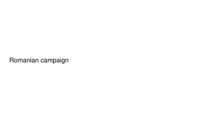 Romanian campaign