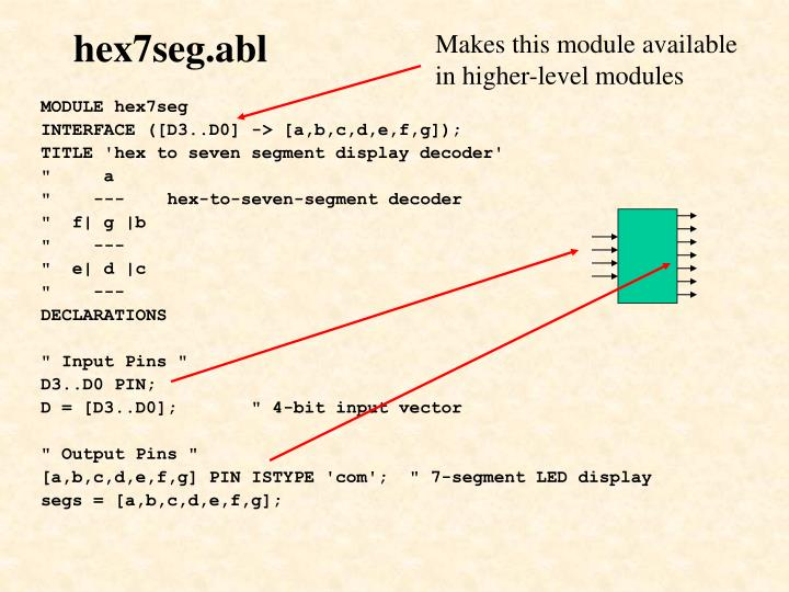 Makes this module available in higher-level modules