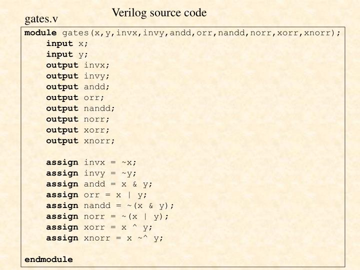 Verilog source code