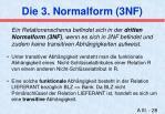 die 3 normalform 3nf