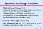 spezieller attributtyp schl ssel