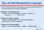 sql als data manipulation language