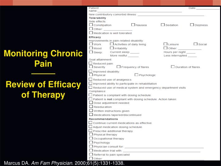 Monitoring Chronic Pain