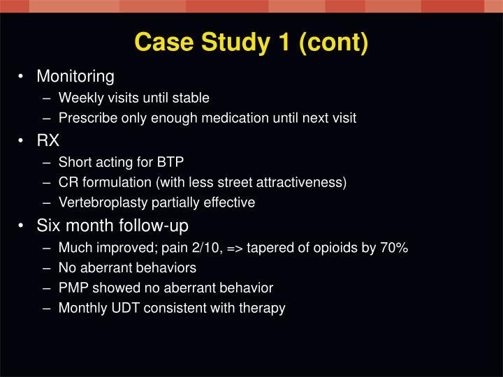 Case Study 1 (cont)