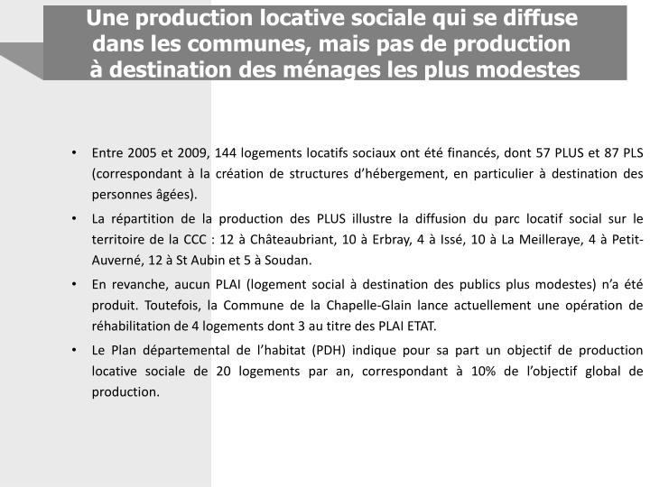 Une production locative sociale qui se diffuse