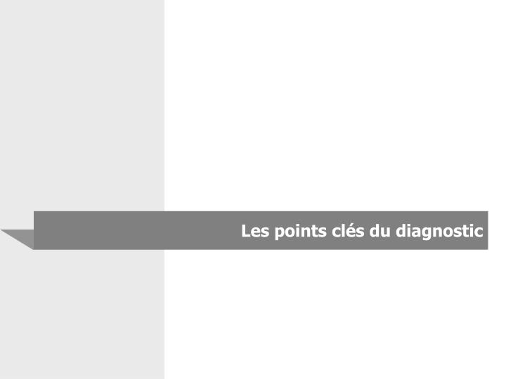 Les points clés du diagnostic
