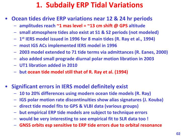 1.  Subdaily ERP Tidal Variations