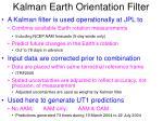 kalman earth orientation filter