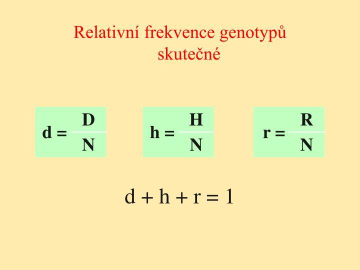 Relativní frekvence genotypů