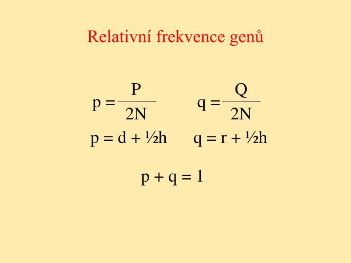 Relativní frekvence genů