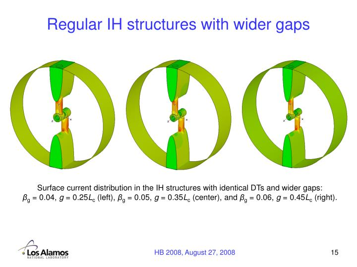 Regular IH structures with wider gaps