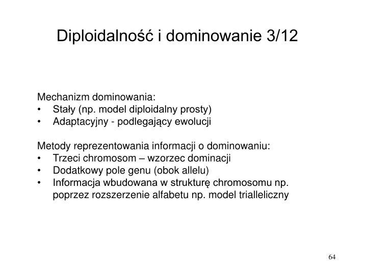 Diploidalność i dominowanie 3/12