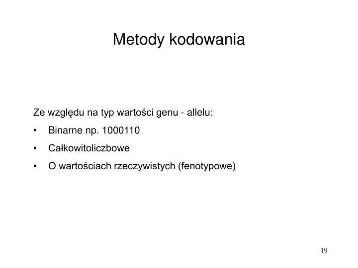 Metody kodowania