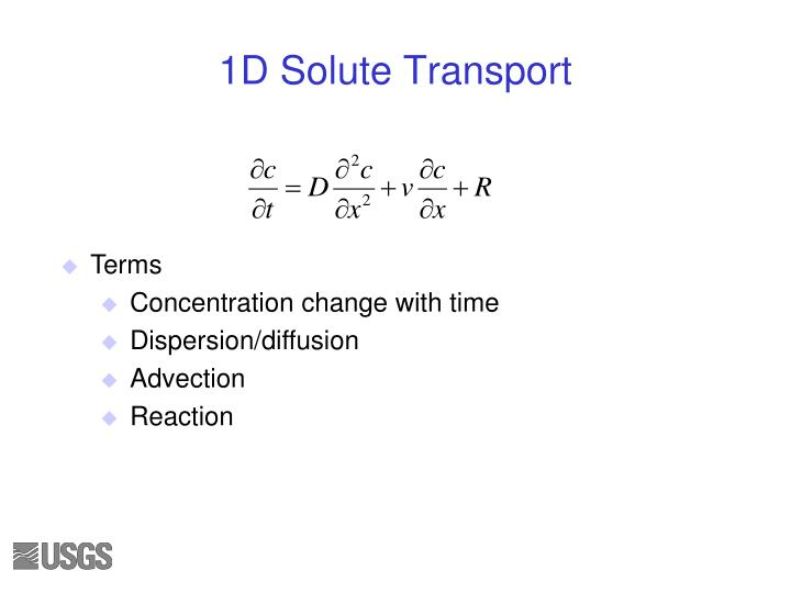 1D Solute Transport