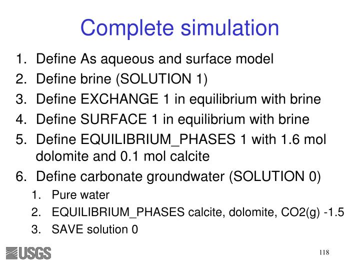 Complete simulation