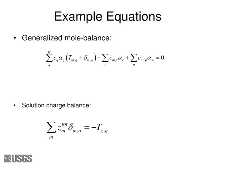 Example Equations