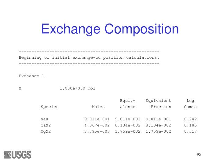Exchange Composition