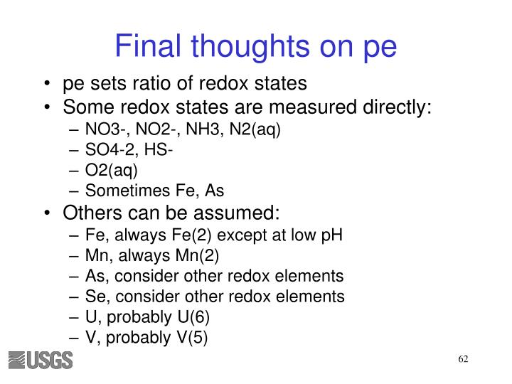 Final thoughts on pe