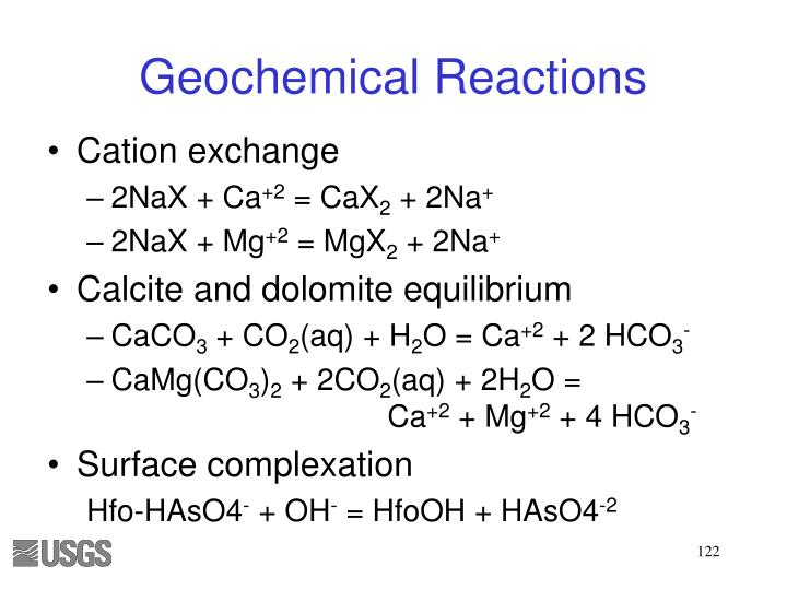 Geochemical Reactions