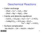 geochemical reactions1