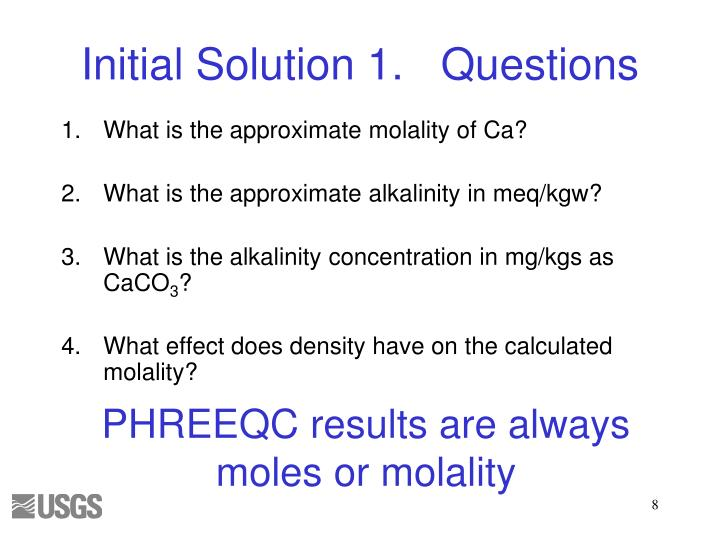 Initial Solution 1.	Questions