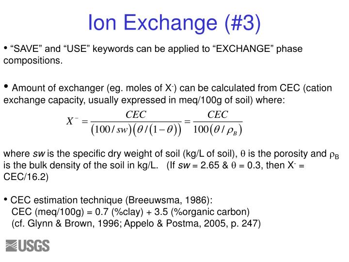 """SAVE"" and ""USE"" keywords can be applied to ""EXCHANGE"" phase compositions."