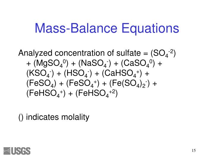 Analyzed concentration of sulfate = (SO