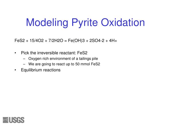 Modeling Pyrite Oxidation
