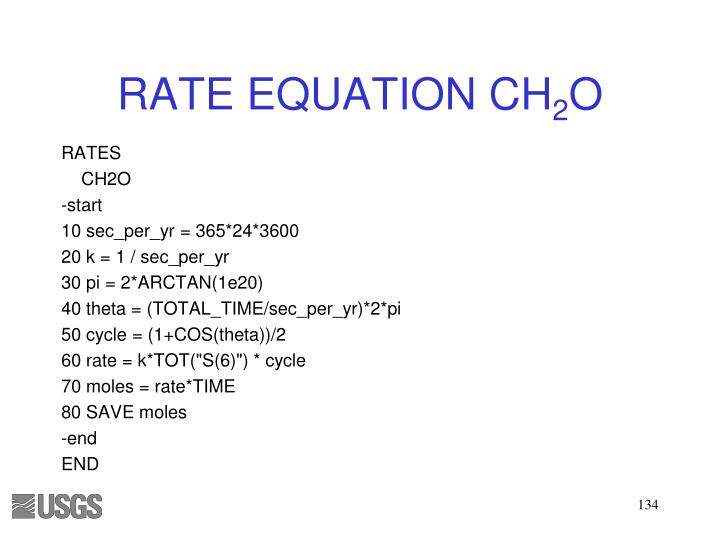 RATE EQUATION CH